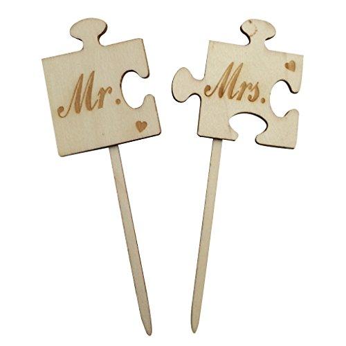 Ben-gi 1 gesetzt Puzzle Holz Herr Frau Hochzeitstorte Topper Tortenständer aus Holz Hochzeitstorte Topper -