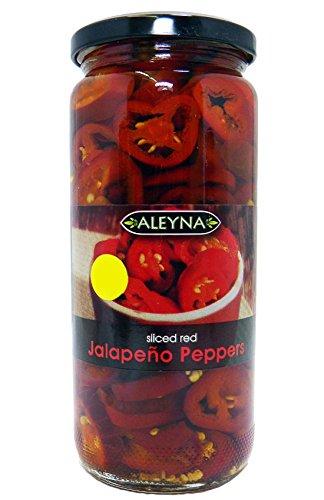 Aleyna - Geschnittene rote Jalapeños - 480 g