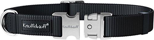 Knuffelwuff 13947-003 ALU Hundehalsband Active, Nylon, 25-40 cm, schwarz