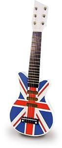 Vilac 8329 - Guitarra eléctrica de juguete, diseño de bandera de Reino Unido por Vilac