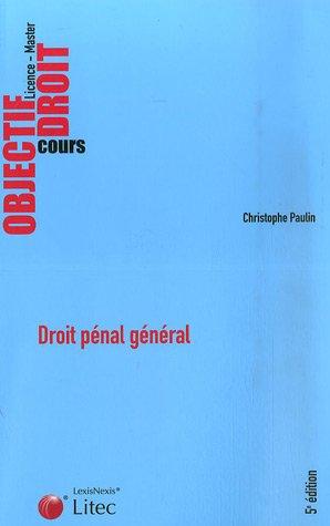 Droit pénal général (ancienne édition)