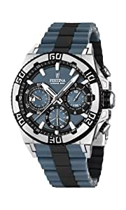 Festina Herren-Armbanduhr XL Tourchrono 2013 Chronograph Quarz verschiedene Materialien F16659/3