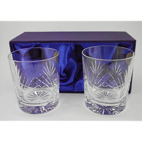 Grabado Cut Crystal Aniversario vasos de Whisky