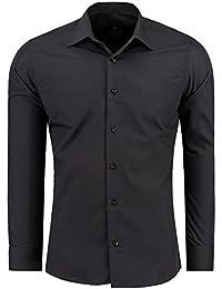 J'S FASHION Herren-Hemd – Slim-Fit – Bügelleicht – Für Anzug, Business, Hochzeit, Freizeit – Langarm-Hemd für Männer