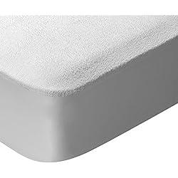 Pikolin Home - Protector de colchón, tejido rizo, algodón, impermeable y transpirable, antiácaros, 80 x 190/200 cm, cama 80 (Todas las medidas)