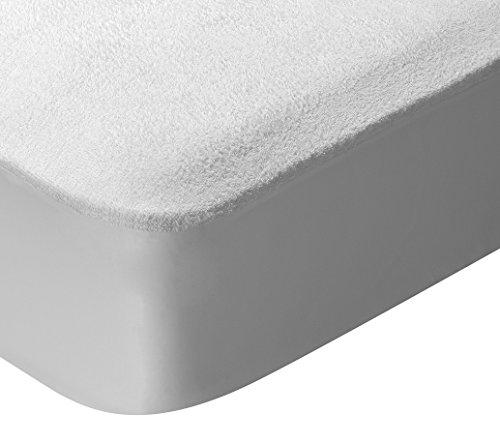 Pikolin Home - Protector de colchón para cuna de rizo, 100% algodón, impermeable y transpirable, 60x120-Cuna (Todas las medidas)