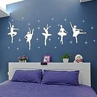 Children Bedroom Decor Ballet Dance Ballerinas Stars Vinyl Wall Decals Art Stickers Dancing Ballet Nursery Room Kids Girls Room Decor Wall Sticker KW-109