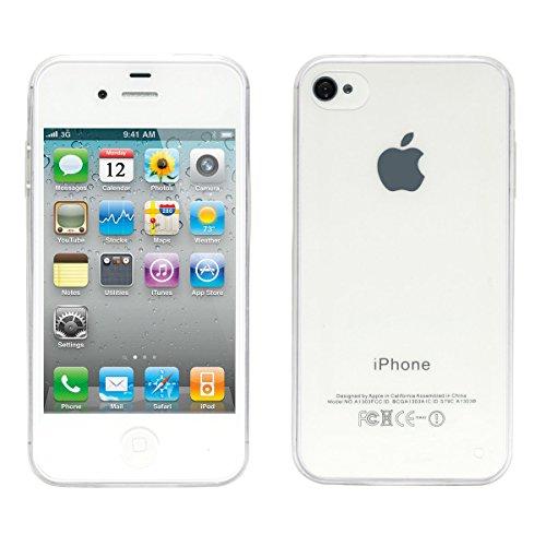 wortek Designer High Quality TPU Silikon - Case für Apple iPhone 4 / iPhone 4S Schutz Hülle Transparent
