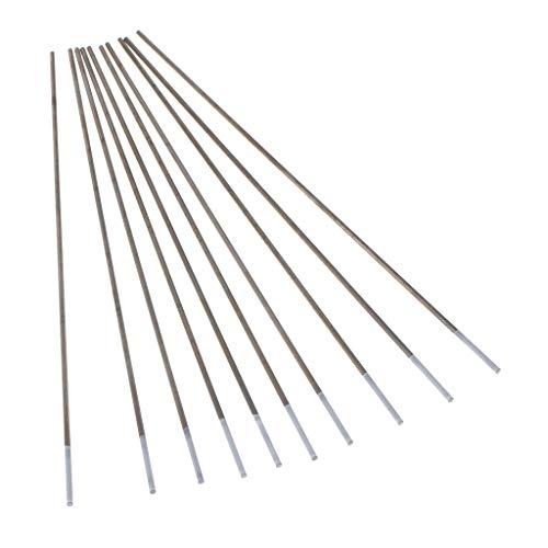 Homyl 10 Unids Electrodos de Tungsteno Puro Tig Argon Soldadura Varilla Circonio Instalación Eléctrica - Plata, Tipo 2