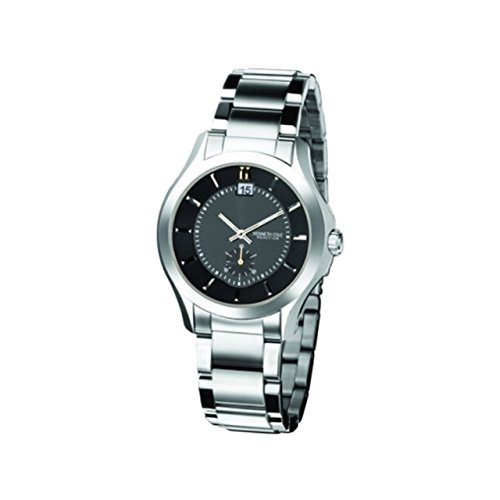 Kenneth Cole Gents Black Subdial Bracelet Watch KC3678 & Alarm Clock Gift Set