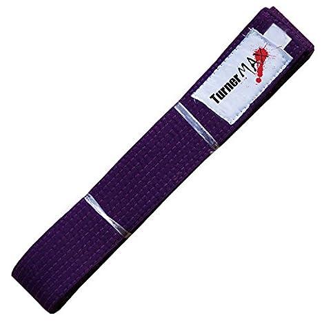TurnerMAX Bouclier de frappe boxe Karaté Judo Ceintures Ceinture Arts Martiaux Kick Taekwondo Kung Fu GI Karaté Convient Formation 280cm Violet Purple 280cm Purple 280cm