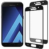 [2-Pack] Samsung Galaxy A5 2017 Cristal Templado, Nazzamo Samsung Galaxy A5 2017 Templado Vidrio Protector de Pantalla [Ultra-trasparente] [Sin Burbujas] [Resistente a Arañazos] [Cobertura completa] - Negro