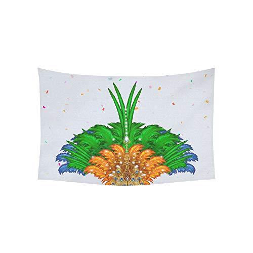 JSXMNA Wandteppich für Karneval, Tanzendes Mädchen aus Rio De Janei Tapisserie, Wandbehang mit Blume, Psychedelic, Wandbehang, indisches Wohnzimmer, Schlafzimmer, 152,4 x 101,6 ()