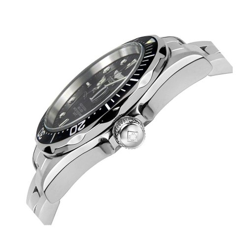 Invicta Herren Analog Quartz Uhr mit Edelstahl Armband 8932 - 6