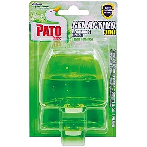 Pato - Gel Activo recambios, Lima Fresca, 2 uds