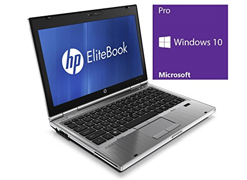 HP Elitebook 2560p Notebook | 12.5 Zoll demonstrate | Intel central i5-2540M @ 2,6 GHz | 4GB DDR3 RAM | 250GB HDD | DVD-ROM | Windows 10 Pro vorinstalliert (Zertifiziert und Generalüberholt) DE