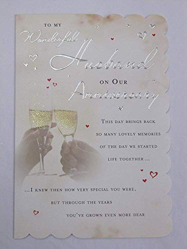 nge formuliert 5vers Wonderful Husband Anniversary Karte ()