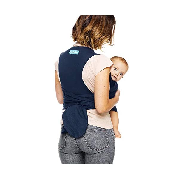 Moby Fit Baby Wrap Carrier In Midnight Blue for Newborn to Toddler Up to 30lbs, Baby Sling from Birth, One Size Fits All, Breathable Stretchy made from 100% Cotton, Unisex Moby One-size-fits-all for babies 8-30 lbs Easy to slip on and adjust for a custom fit Grows with baby, from new-born to toddler 2