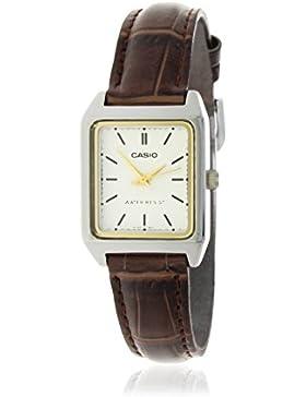 CASIO Damen-Armbanduhr Analog Quarz Leder LTP-V007L-7