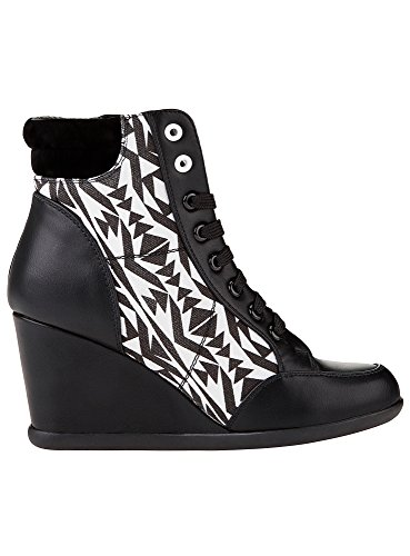 oodji Ultra Donna Sneakers in Pelle Artificiale Nero (1029G)