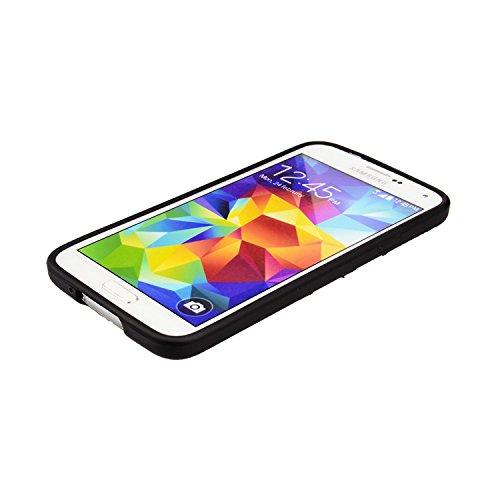 Galaxy S5 Hülle, Luxus Stilvoll Entwurf Electroplated Slim Fit Leichte ultra dünnen metallischen Glanz TPU Abdeckung Hülle für Samsung Galaxy S5 - Rose Gold Schwarz