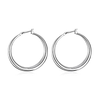 ANPHSIN Graceful and Fashionable Silver Earrings