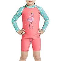 Gogokids Baby Mädchen Badeanzug Bademode - Kinder Langärmelig Strandkleidung UV-Schutz 50+ Neoprenanzüge Badebekleidung