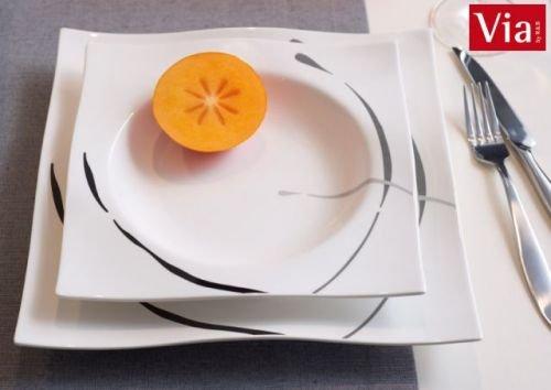 Via By R&B Geschirr-Serie Dacapo Material Speiseteller eckig Dacapo