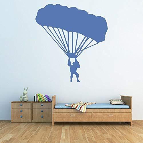 Geiqianjiumai Wandtattoos Kindergarten Kinderzimmer Fallschirm Vinylwand Junge Schlafzimmer Wohnzimmer blau 30x32cm