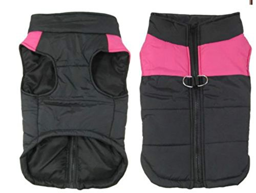 PAWZ Road Pet Clothes For Small Medium and Large Dogs Winter Warm Vest Jacket Easy On/Off Pink 5L 8