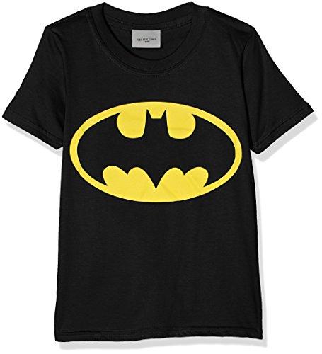 DC Comics Jungen Batman Logo T-Shirt, Schwarz (Black), Jahre (Herstellergröße: 3-4 Years)