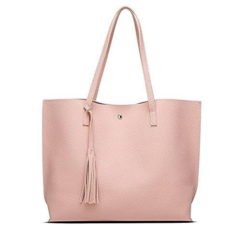 fanhappygo Fashion Retro Leder Damen elegant Shopper-Tasche Handtaschen Umschlag Schulterbeutel Umhängetaschen