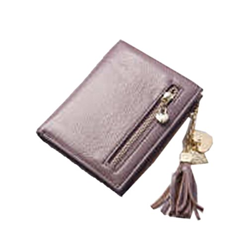 WU Zhi Lady In Pelle Portafogli Portamonete Purple