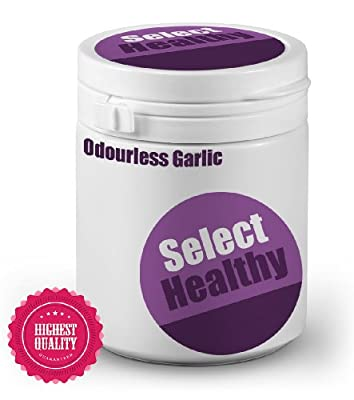 Select Healthy Garlic Odourless 1000mg - 180 Capsules - UK Sourced Free UK Delivery from Select Healthy