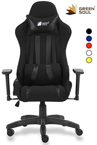 GreenSoul Beast GS-600 Gaming Ergonomic Chair in Fabric and PU...