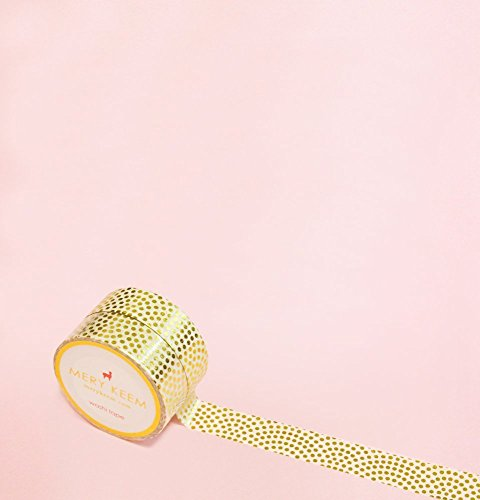 Polka Dots Goldmünze Foil Washi Tape for Planning • Planer und Organizer • Scrapbooking • Deko • Office • Party Supplies • Gift Wrapping • Colorful Decorative • Masking Tapes • DIY