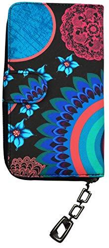 d99428ea91 LLB Portafogli Donna Etnici In Rosa Multicolore Design Portafoglio Blu  Black Blue