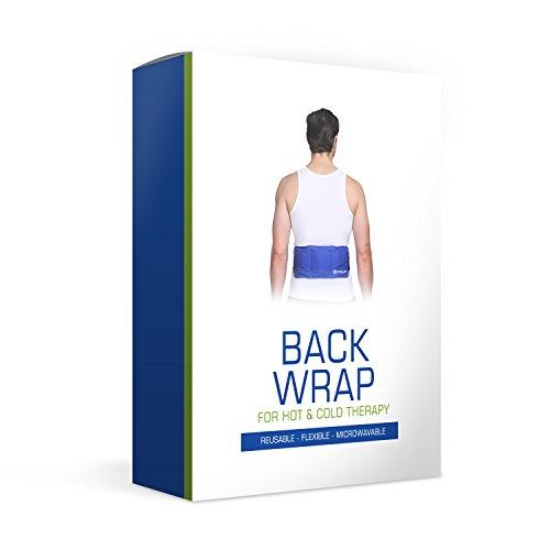 Gel-kompresse Für Rücken Zur Kälte- Oder Wärmeanwendung: Schmerzlinderung In Großen Körperbereichen (Oberkörper, Schulter, Lendenbereich, Usw.) |Universell, Flexibel, Mikrowellengeeignet & Wiederverwendbar