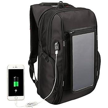 4b840a2fd1 ELLANM Zaino Per Laptop Zaino Antifurto, Borsa A Tracolla Per Ricarica Pannello  Solare Fashion Business Zaino Per Ufficio Con Due Porte USB 5.1 V Per  Laptop ...