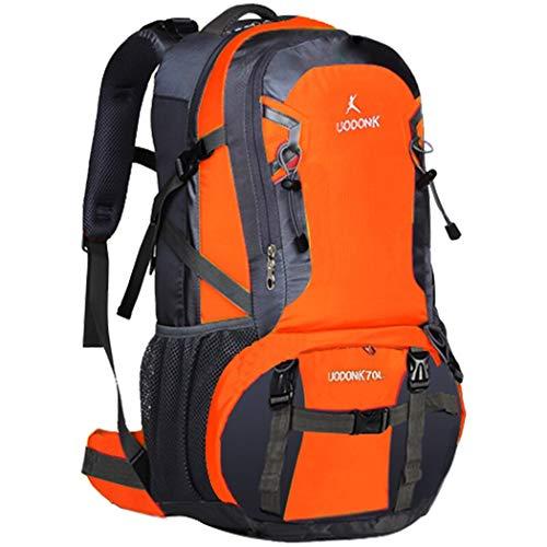 LF Große Kapazität wasserdichter Rucksack Outdoor-Reiserucksack Camping Rucksack Herren und Damen Schultasche Bergsteigen Tagesrucksack Rot/Blau/Orange/Grün (Color : Orange, Size : 55cm)