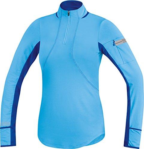 Gore Running Wear Air Maillot à manches longues Femme Blu ghiaccio/Blu