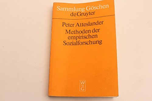 vintage13.de Sammluung Göschen Methoder der empirischen Sozialforschung P. Atteslander