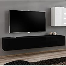 Muebles Bonitos – Mueble TV modelo Berit H180 Negro
