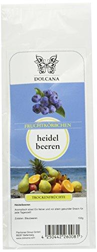 Dolcana Trockenfrüchte - Heidelbeeren , 2er Pack (2x 150 g Packung)