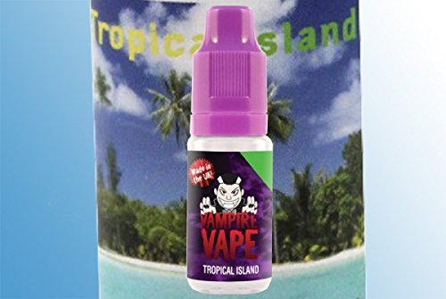 Preisvergleich Produktbild 5 x Vampire Vape Liqiud 10ml Nikotinfrei + Reinigungstuch von Smart24 (Tropical Island)