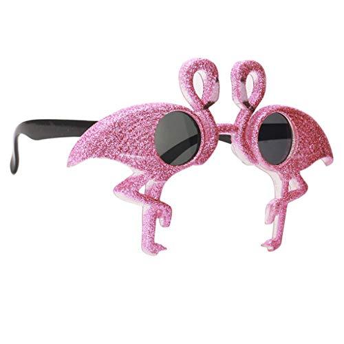 (Fenteer Party Favors Lustige Sonnenbrill Partybrille SpaßbrilleLustige Augen Brille Gläser Kostüme Foto Requisiten - Flamingo)
