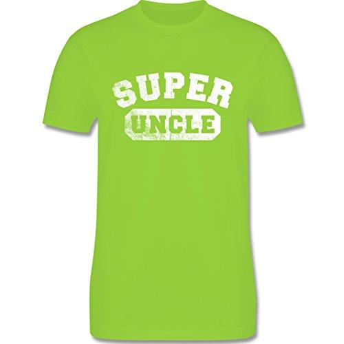 Bruder & Onkel - Super Uncle - Vintage-&Collegestil - Herren Premium T-Shirt Hellgrün