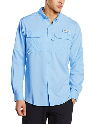 Columbia Herren Blut und Mut III Long Sleeve Woven Shirt Blau