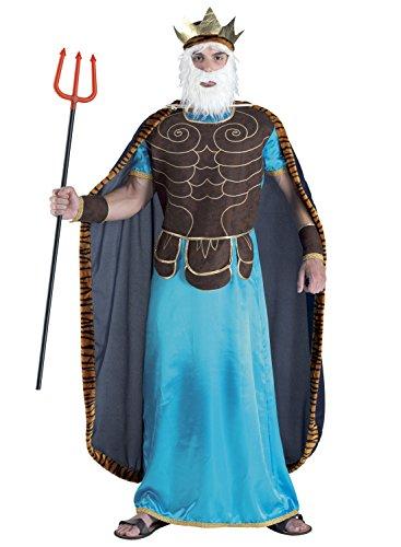 König Kind Triton Kostüm - Chiber - Neptun-Kostüm für Herren / Poseidon-Kostüm Verkleidung für Karneval