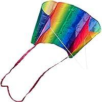 Hq-Invento - Aquilone Monofilo: Sleddy Rainbow, Senza Struttura Rigida, Dimensioni Cm 76 X 50, Maniglia E Cavo Inclusi. - Volante Slitta